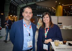 Martijn Kesteloo (Through Partners) and Anne Jancic (BASF Vegetable Seeds)
