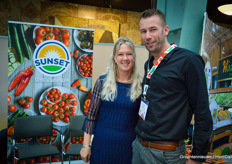 Jessica Mulder of Sunset of Holland, the collaboration between Sunset and Soho Produce launched this year. On the picture with Johan Knoll of TNI Holland