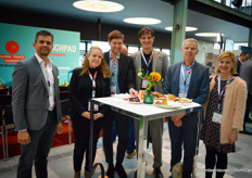 Joost Haenen with Ludvig Svensson, Giama Corbelli with Messe Berlin, Thomas Karl with Fruit Logistica, Andreas Hofland with Hortikey, Martien Penning with Hillenraad & Nele Indevuyst with AHK Debelux & Messe Berlin.