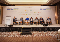 The International Greenhouse Complexes Russia and CIS countries took place in Moscow on December 4th and 5th 2019. The first day opened with a plenary session an discussion on the developments in the greenhouse industry. TV host Yuriy Bogdanov, Aleksey Shemetov, Oksana Fedoseeva with Vostock Capital and founder of Stavropol Flavour,, Dmitriy Lashin (Lipetskagro), Alexey Sitnikov (Association Greenhouses of Russia) Andrey Razin (Eco Culture), Guriy Shilov, Greenhouse.