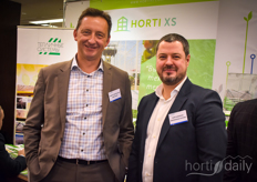 Robert van der Lans with Horti XS is visited by Igor Kubakhov with Greenhouse Systems.
