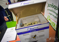 The Beeline products could be found anywhere around the show