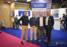 Squibain & Hoogendoorn are partners and shared a booth. In the photo Olivier Porhel, Patrice Borali, Martin van Tol & Otto Post.