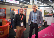 Anthony Bruneau with Claie and Olivier Berthelier with Priva. Claie is the Priva dealer for eastern part of France and now also for the southeast of France.