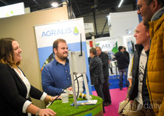 The team with Agralis offers various solutions to measure the soil, the climate and other solutions influencing the the crop growth