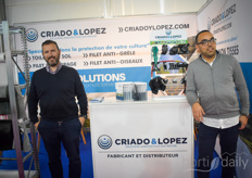 Mr & Mr Lopez? No it's Roland Pereira & Moshine Chouati with Criado & Lopez. The demand for the insect nets that they're offering is high.
