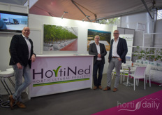 Richard van Dijk, Johan Versteeg & Ron Laan with HortiNed. The company supplies and installs complete horticultural projects, of which many happen to be in France.