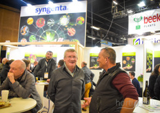 Guguyen Louc with Syngenta is visited by distributor Dion Frederic