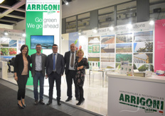 The team of the Italian company Arrigoni always sees many acquaintances at the fair and covers more topics than their textile solutions in the conversations. In the photo Maria Albero, Leonardo Mannarelli, Davide Daresta, Giuseppe Netti & Patrizia Giuliani