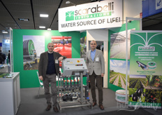Scarabelli showed solutions for water in both agriculture and horticulture. In the photo Luca Marzocchi & Stefano Vertuans.