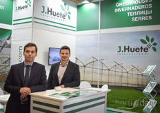 Guillermo Baquero of J. Huete International with his colleague