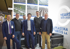 This year Plastika Kritis is celebrating its fiftieth anniversary and the team of the British company XL Horticulture, which was visiting Plastika Kritis at the time of the photo, is looking forward to a party!