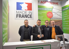 The team of AgriPolyane was visited at the fair by French colleagues. On the photo Jose Gongora, Bertrand Salkin