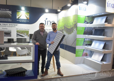 Kostas Tsonakis and his colleague with INA Plastics