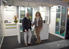 Daniele Airoldi and Elisabetta Pircher of Italian technical textile manufacturer Aduno are expanding their product range.