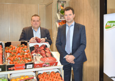 David Bamps and Dominiek Noppe with Vergro. The company is building new premises in Sint-Katelijne-Waver.