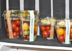 New concept of Den Berk: convenience tomato salads in three different flavours.