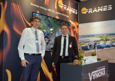 André van Berkel (Frames) and Vincent Dermience (Vyncke) shared a stand.