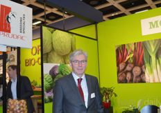 Ard Ammerlaan van Prudac shared a stand with Mooij Vegetables.