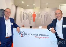 Frans Neijenhuis and Johan Ekers of The Recruiting Specialist stood in the busy hall 1.2.