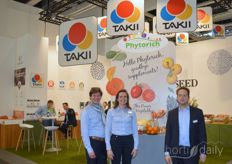 Takii Seeds presented vegetable concept Phytorich prior to the fair. On the photo: Rogier Laurens, Friederike van der Boon and Harm Custers.  https://www.hortidaily.com/article/9180730/takii-europe-launches-phytorich/