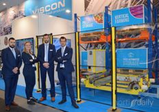 Viscon's focus this time in Berlin was on the automation of packaging halls in the AGF sector. In the photo Konrad Kloskowski, Wouter van den Berg, Jaimy Lee Nicodem and Tim Huijben.