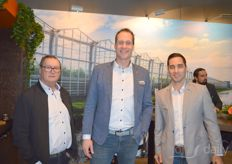 Hen van Gaalen, Olaf Mos and Maurice Duijn van Gakon. Gakon is currently taking care of the expansion of Steiner Gemuse in Germany.