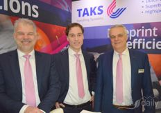 Arie Meeuwissen, Paul Verhoef and Cor Taks of Taks Handling Systems