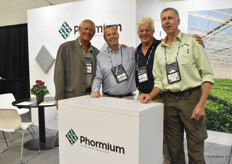 Peter Ollevier with Phormium (second on the right) was paid a visit by Bert Neeft (Total Energy Group), Theo van de Sande (Growline) & Kees van Zeijl (Total Energy Group)