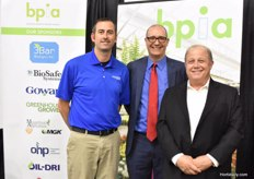 "The BPIA (Biological Products Industry Alliance) has broadened their activities from biological crop protection products to biological stimulants as well. ""A mega trend"", Executive Director Keith Jones states. In the photo with Jon Amdursky and Eric Smith, BioSafe Systems."