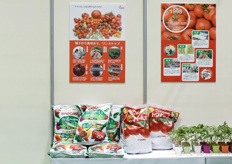 Japanese grower and processed produce giant Kagome was showing its range of processed tomato and fresh market tomatoes. The grower is now also offering hobby substrates and young plants for enthousiast Japanese home gardeners.