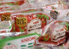 Kagome advertises a 'High Lycopene' content on its tomatoes.