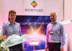 Ronald Monster and Peter Hendrix of supplemental lighting supplier Hortilux Schréder; one of the few suppliers at the GPEC show with more advanced LED solutions dedicated to horticulture.