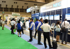 Japanese technology multinational NEC was at the show showcasing their approach to controlled environment agriculture.