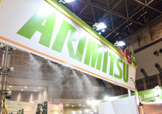 Arimitsu's high pressure fog system installed with flexible PE tubing.