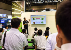 Seminar on LED light recipes at the booth of Panasonic.