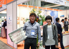 Marcel Schulte of Holland Gaas together with Japanese agricultural journalist and consultant Mariko Kihira.