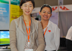 Seung Yeon Lee and her colleague from Chobi grower supplies.