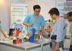 Asian farmers showed a lot of interest in fogging machines, it was always busy at the booth of Vector Fog.