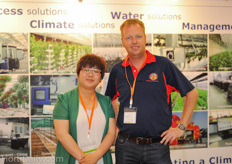 Mu Xuemei from Priva Asia and Luuk Runia from Asian Perlite/ Greenhouse Solutions Asia.
