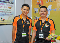 Jimmy Cheng and Ten Chin Chang from Yuan Kai Co.