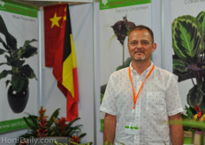 Erik Somnel from EP-Exotic Plant grows young plants like Bromelias in Shanghai.