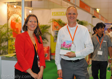 Agricultural Counsellor from the Kingdom of the Netherlands Daphne Dernison together with Ger van Burik from the Holland Fresh Group.