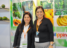 Rosaly and Jocelyn from Raspina Tropical Fruits Philippines.