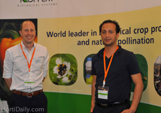 Bram Koppert and Yassin Lahiani from Koppert Biological Systems.