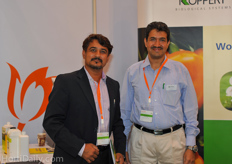 Satilal Patil from Greenvision India in conversation with Udayanarayana Bhat from Koppert India.