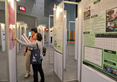 A lot of information walls regarding horticulture where made available to the trade show visitors.