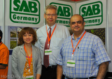 Jens Meyer (mid) from SAB Germany together with his colleagues