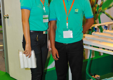 SQM's assistant general manager Nattaya Pomtip and agronomist Warayut Wongin