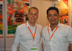 Koen Mattheus from Sercom automation together with his colleague Joe. Sercom attended Horti Asia for the second year, due to a quite successful first year. They ran into a new customer at last years exhibition and have just completed a project with them for their tomato greenhouses